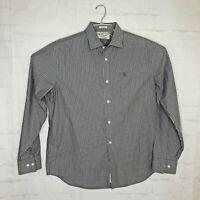 PENGUIN Men's Classic  Fit Long Sleeve Casual Button Down Shirt Size XL  Gray