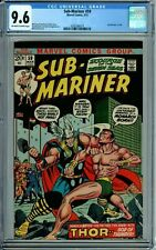 SUB-MARINER 59 CGC 9.6 SUB vs THOR BATTLE issue NEW CGC CASE Marvel Comics 1972