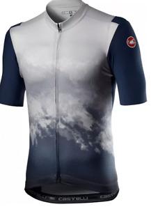 Castelli POLVERE Gravel/Road Cycling Jersey, Dark Grey, Men's Medium