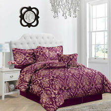 NEW LUXURY JACQUARD 7 Pc QUILTED  BEDSPREAD/THROW  + 2 PILLOW SHAMS +2 CUSHIONS
