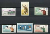36839) Romania 1965 MNH European Shooting Games 6v Imperforated