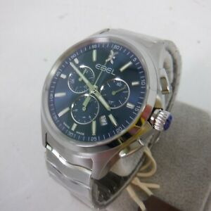 Ebel Mens Chronograph Quartz Watch with Stainless Steel Strap 1216344