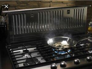 "KitchenAid Retractable Downdraft Ventilation 13.5"" Rise 65,000 BTU KXD4636YSS2"