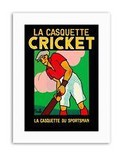 Cappello alla moda abbigliamento Mazza da Cricket FRANCIA POSTER Sport Tela art prints