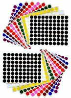 "Half Inch Color Coding Stickers Circle Labels 1/2"" Marking Round Dots 1760 Pack"