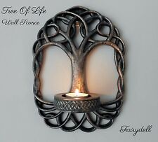 *TREE OF LIFE*  WALL SCONCE TEALIGHT CANDLE HOLDER ~ CELTIC KNOT PAGAN WICCAN