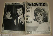 GENTE 1965/6=CARROLL BAKER=BOBBY SOLO=JANET MARGOLIN=FELICE DAPHNE CASORATI=