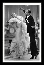 FRED ASTAIRE & GINGER ROGERS AUTOGRAPHED SIGNED & FRAMED PP POSTER PHOTO