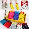 FD5204 Sweet Candy Colors Socks Bowknot Ankle Polka Dot Cute Women Girl Socks ♫