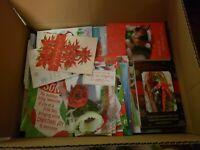 NEW lot 100 Christmas, Holiday greeting cards, unused. NO ENVELOPES!!!!!!!