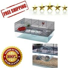 Hamster Cage Free Water Bottle Exercise Wheel Food Dish Hamster Hide Out Large