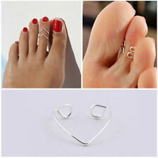 1PC Celebrity Fashion Women Simple Toe Ring Adjustable Foot Beach Jewelry New