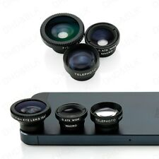 Universal 3 in 1 Fisheye Lens+Wide Angle+Micro Lens for Iphone & Smart Phone New