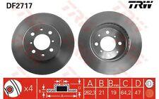 TRW Juego de 2 discos freno 262mm 262,3mm ventilado HONDA ROVER 400 200 DF2717
