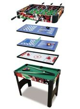 6 in 1 multi Games Table:Football Tennis Air Hockey Pool Draughts Backgammon Vgc