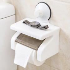Bathroom Toilet Paper Phone Holder w/Shelf Household Tool Suction Cup Wall-Mount