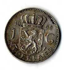 Moneda Holanda 1955 1 Florin Juliana plata 0,720 silver coin Nederland