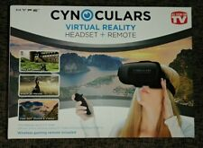 Virtual Reality 3D Glasses Adjustable Headset + Remote by Cynoculars (bid)
