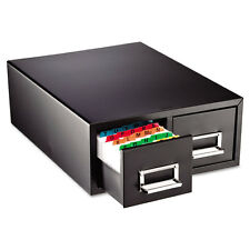 """SteelMaster Drawer Card Cabinet Holds 3 000 5 x 8 cards 18 2/5"""" x 16"""" x 7 1/4"""""""
