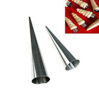 5X*cône de cuisson en acier inoxydable spirale croissant tube corne moule gâteaI