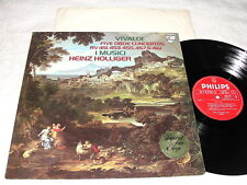 """Holliger/I Musici """"Vivaldi: Five Oboe Concertos"""" 1977 LP, VG+, Philips, Import"""
