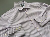 BANANA REPUBLIC Non Iron Slim Fit Striped Long Sleeve Shirt Size S Small