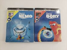 Finding Nemo & Finding Dory Steelbook Set Sealed 4k Ultra Hd + Blu-Ray + Digital