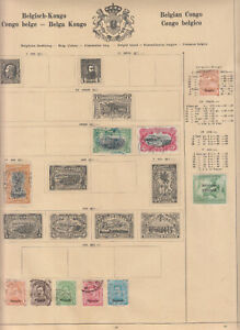 Belgian Colonies Belgian Congo rare general issues stamp collection part mh/used