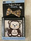 New LOVESPUN The Perfect Picture Bow Tie & 12 Photography Stickers Brown