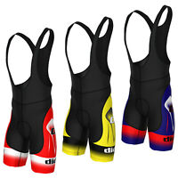 Didoo Mens Cycling Bib Shorts Breathable Padded Bicycle Tight Racing Fit Pants