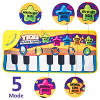 Musical Piano Play Mat Kids Baby Development Educational Soft Toys Boy & Girl US