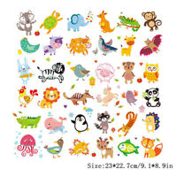 Cartoon Animal Patches Heat Transfer Stickers DIY Printing Iron On Appliques