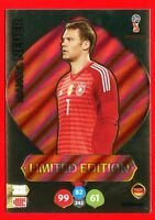 WC RUSSIA 2018 -Panini Adrenalyn- Card Limited Edition - NEUER - GERMANY