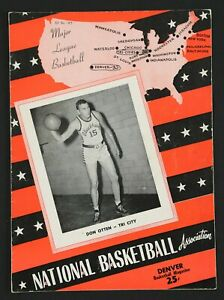 1949-50 Denver Nuggets Inaugural Season NBA Program