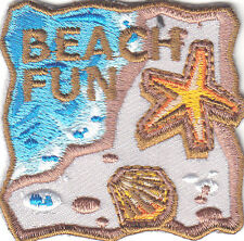 """""""BEACH FUN"""" PATCH-Iron On Embroidered Applique Patch-Trip, Vacation, Beach"""