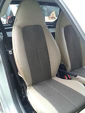 1+1 Autositzbezüge, Passt auf SMART ROADSTER (452) Sitze, BEIGE-SCHWARZ