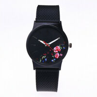 Schwarze Blume Uhr Damen Uhren Buchse Geschenke für Sie Mutter und Tochter