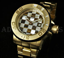 Invicta 50mm Sea Hunter Automatic Tigers Eye Mother of Pearl Mosaic 18KGP Watch