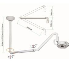 36W Ceiling Mount LED Shadowless Lamp Surgical Exam Light Dental Equipment 800mm