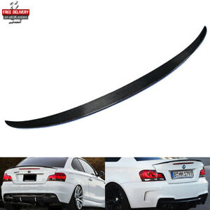 Real Carbon Fibre Rear Trunk Boot Spoiler M Performance For 07+ BMW 1 Series E82