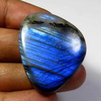 Natural blue flash LABRADORITE oval cab glorious! GEMSTONE cabochon 18x29x4 mm A38 28.55 Cts