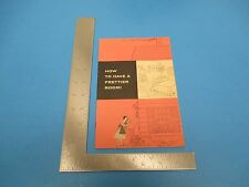 Vintage Johnson Wax How to Have a Prettier Room Advertizing Brochure S2432