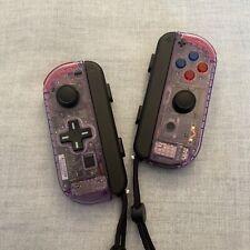 Nintendo Switch Joy Con Controller PAIR CUSTOM COLOUR with D-PAD - ATOMIC PURPLE