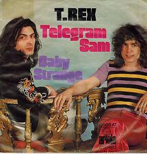 """7"""" T. Rex – Telegram Sam / Baby Strange ,VG+,Germany 1972, Ariola 10 989 AT"""