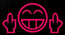 1x Shocker Smiley Mittelfinger OEM Auto Aufkleber Sticker JDM Fuck You Kult funx
