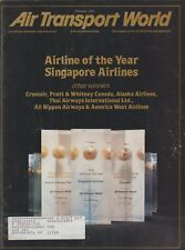 Air Transport World (Feb 1990) Singapore Airlines, Royal Brunei, GP Express