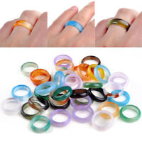 Luxus Ring Natur Edelstein Steinring Edelsteinring 5-6mm Großhandel Achat Ringe