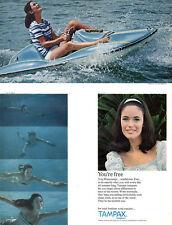 Wave Runner Jet Ski SKIN DIVING Tampax Tampons JANTZEN Fikki Swimsuit 1967 Ad
