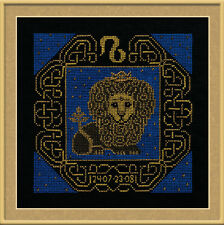 Zodiac Sign Leo Counted Cross Stitch Kit Riolis