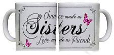 """Hermosa hermana Taza """"amor nos ha hecho amigos"""" presente Regalo Mariposa Chic"""